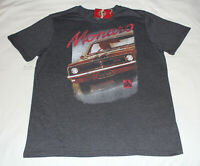 Holden Mens HT GTS Monaro Charcoal Printed Short Sleeve T Shirt Size L New