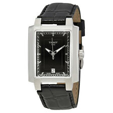 Tissot TXL Black Dial Black Leather Ladies Watch T061.310.16.051.00