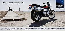 Preisliste Triumph Motorcycles 2006 D Daytona 955i 675 Rocket III Speed Triple S