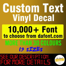 Custom Stickers Vinyl Lettering Decal Personalized Name Window Text Wall Car Van