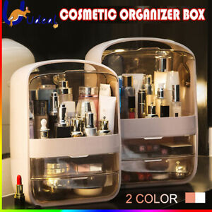 Portable Cosmetic Organizer Storage Box Dust-proof Makeup Jewelry Cas Drawer