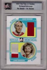 HENRI RICHARD LARRY ROBINSON ITG 1972 Year in Hockey HSHS #d /20 SP Dual Jersey