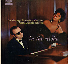 "DAKOTA STATON / G. SHEARING ""IN THE NIGHT"" SOUL VOCAL JAZZ 50'S LP CAPITOL 1003"