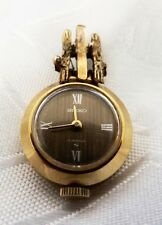 SEIKO GOLD PLATED MECHANICAL PENDANT WATCH NECKLACE