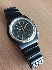 VINTAGE CITIZEN CHRONOGRAPH AUTOMATIC 8100 FLYBACK BLACK PVD - RARE RACING WATCH