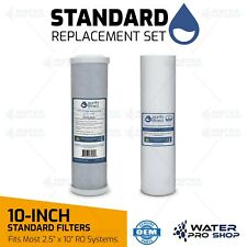 Dual Stage Drinking Water Filter Replacement Set, filters Chlorine,VOCs,Sediment