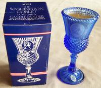 """1976 Avon/Fostoria """"WASHINGTON GOBLET"""" Holder & Frankincense & Myrrh Candle NEW!"""