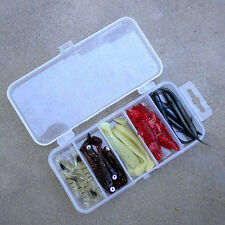 Plastic Fishing Lure Bait Box Storage Organizer Container Case 5 Compartments