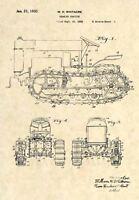 Official Caterpillar Tractor US Patent Art Print- Vintage Antique Original  -340