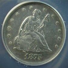1875-P  Twenty Cent Type Coin ANACS AU 50 Details -  Better Date  Lot #C630
