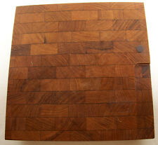Atapco Siamese Teak Wood Footed Cheese Cutting Chopping Board VTG Mid Century