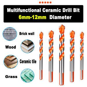 6mm-12mm Carbide Drills Bit Woodworking Drill Bit Ceramic Drill Triangular Shank