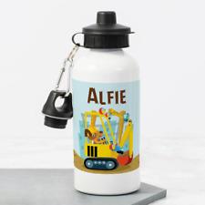 Personalised Construction JCB Digger 400ml Kids Children's Water Drinks Bottle