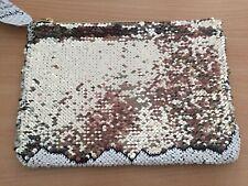 Sequin Champán & Cream Clutch Bag