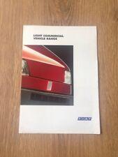 1996 Fiat Punto Fiorino Scudo Ducato Vans Brochure