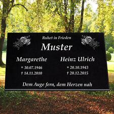 60x40 Grabstein Grabplatte Gedenkstein Grabtafel Urnengrab inkl Gravur Granit