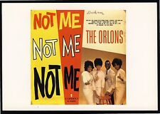 The ORLONS / NOT ME / 1963 Cameo LP /  Oversize Postcard
