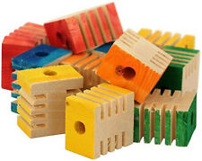 "Zoo-Max Groovy Pieces 1"" Blocks Bird Toy"