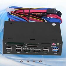 "PC Internal Card Reader USB 3.0 e-SATA Port 5.25"" Media Dashboard Front Panel BT"