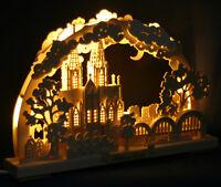 3D LED Schwibbogen Kölner Dom Stadtansicht Köln 43x30cm Erzgebirge Lichterbogen