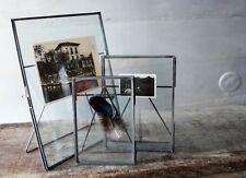 Antique Zinc & Glass Photo Frame Portrait 8x10 5x7 or 4x6 Vintage Style Large