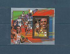 Centrafrique   bloc  jeux olympiques  Séoul  1988  Peter Rono  sur OR  **