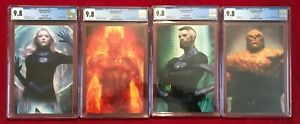 Fantastic Four COMPLETE ARTGERM VIRGIN CGC 9.8 Set  1 1 2 3 THING INVISIBLE