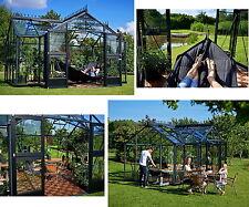 Juliana Gewächshaus Orangerie anthrazit ESG Glas 3 mm 15,2 m² BxT: 439x296 cm
