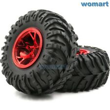 2pcs RC 2.2 Mud Snow Sand Tire Badland tyre 130mm & 2.2 Crawler Truck Wheel Rim