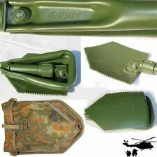 Original Bundeswehr Klappspaten, Spaten, mit Flecktarnhülle Aluminium  BW Spaten