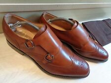 Church's double monk UK 7.5 41.5  vtg brown leather pointed brogue Minimal wear