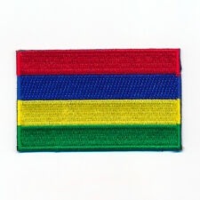 30 x 20 mm Maurice Rodrigues Port Louis drapeau écusson Aufbügler 1018 MINI