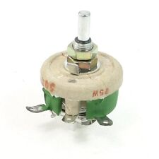 1Pcs Motor Control 25W 50 Ohm C Shaped Ceramic Variable  Resistor Rheostat