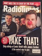 Radio Times Mag James Corden TAKE THAT Gary Barlow Mark Owen Comic Relief Dr WHO