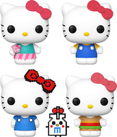 Hello Kitty Set of 4 Funko Pop Vinyls New in Boxes In Hand
