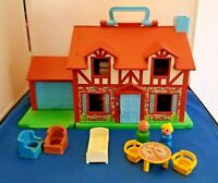 Fisher Price Little People Play Family House #952 1980 Furniture Vintage  #3