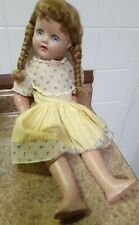 "Vintage Composition 18"" Doll Unmarked Beautiful"