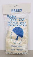 Vintage 1960s Essex Rubber Women's Swim Cap Paisley pattern w/ Strap NIP