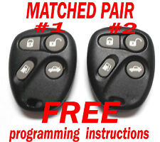 OEM PAIR 1996 1997 CADILLAC KEYLESS REMOTE ENTRY FOBS ABO1602T DRIVER 1 & 2