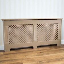 Oxford Radiator Cover Traditional Unfinished Medium MDF Cabinet Unpainted