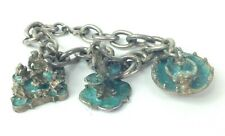 rare Triton ,Frog, Fontana Del Mono Vtg silver Italy Roma 850 charm bracelet