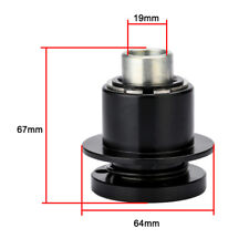 360 Degree 3/4'' Bore CNC Black Steering Wheel Quick Release Disconnect Hub