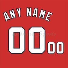 Béisbol Washington Nationals Rojo Jersey número Personalizado Kit sin costura