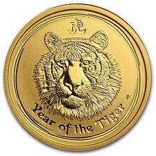 2010 Australia 1/4 oz Gold Lunar Tiger BU (Series II) - SKU #54864