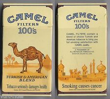 CAMEL FILTERS 100's cigarette Duty Free empty box '90 - Smoking causes...
