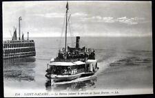 FRANCE ~ 1900's SAINT NAZAIRE ~ FERRY BOAT SERVICE TO SAINT-BREVIN~ Le Bateau