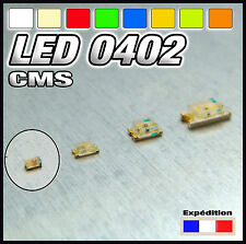 144# LED CMS  0402 blanc, blanc chaud, rouge , bleu, jaune, orange, vert