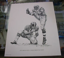 CLEVELAND BROWNS LOU GROZA Football PRINT