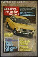 AMS Auto Motor Sport 10/71 * Jaguar E V12 Opel Ascona 1,9 R 12 Escort GT