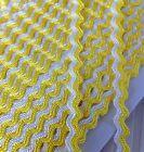 2 Meters Lemon Yellow / White Ric Rac Braid 8mm Wide